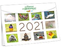 Calendrier Ferme de Beaumont 2021