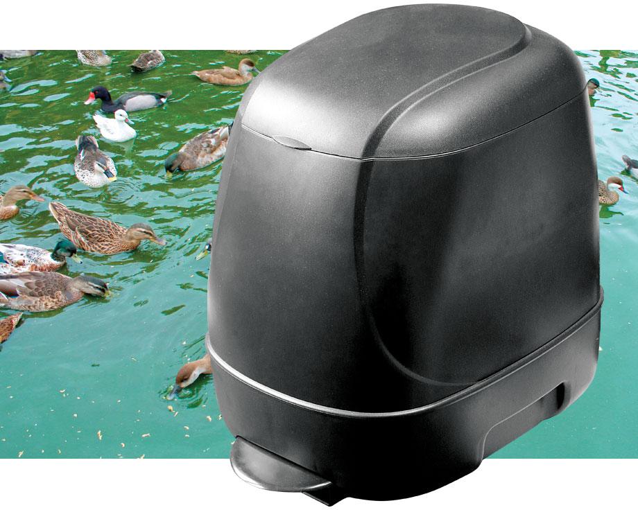 Distributeur d aliment automatique la ferme de beaumont for Distributeur poisson