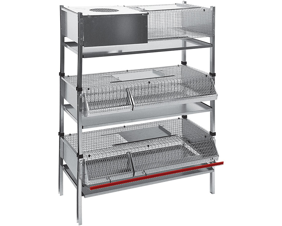 Lot de 3 cages superposables cailles