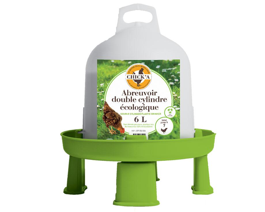 Abreuvoir double cylindre sur pieds 6 litres
