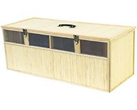 Panier bambou 4 cases taille L