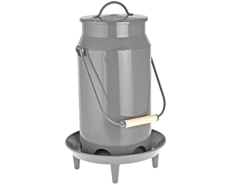 Mangeoire métal sur pieds 3 kg Ardoise