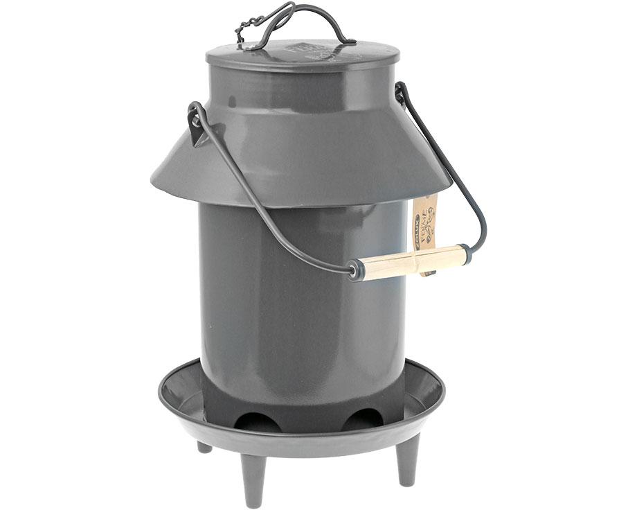 Mangeoire métal sur pieds 3 kg toit Ardoise