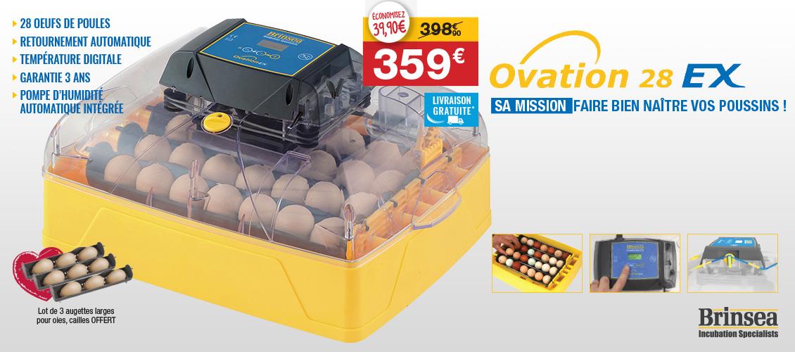 Couveuse automatique Brinsea Ovation 28 EX oeufs