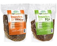 Insectes séchés Crunchy 3 kg + Insectes soufflés Pop 1,5 kg