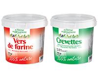 Vers de farine déshydratés 2,5 litres + Crevettes déshydratées 2,5 litres