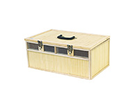 Panier bambou 4 cases taille S