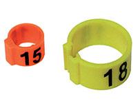 Boite de 25 bagues numérotées diam. 8mm