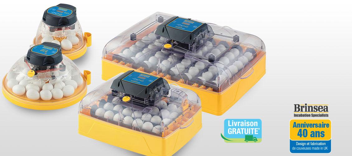 Nouvelles couveuses Brinsea Mini II Maxi II  et Ovation