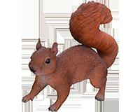 Écureuil en résine
