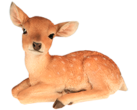 Bambi couché en résine