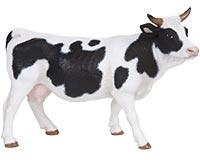 Figurine Papo Vache blanche et noire