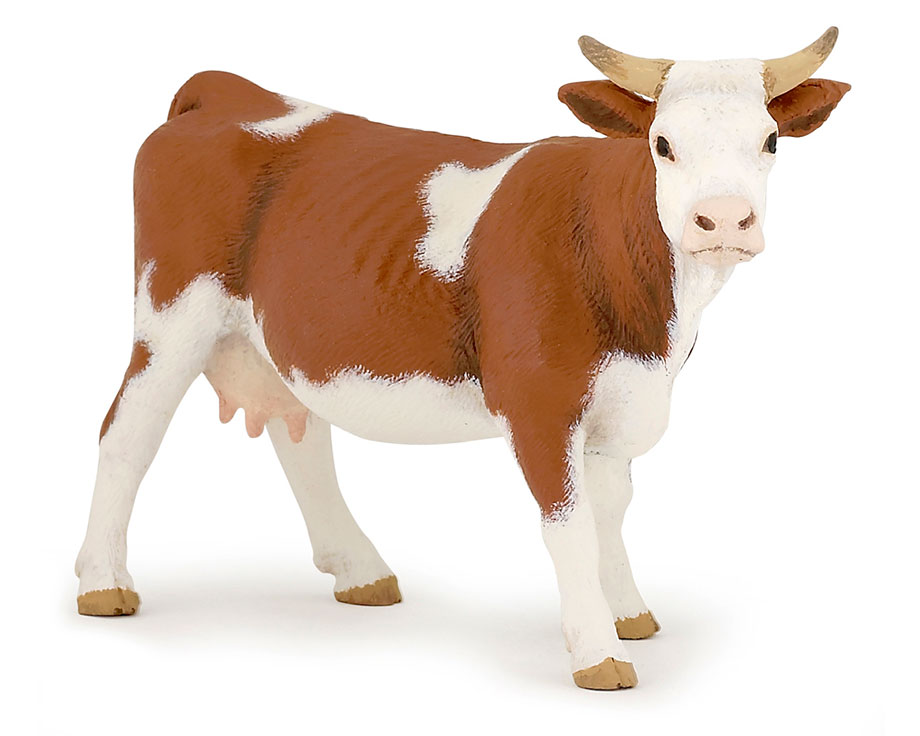 figurine papo vache simmental la ferme de beaumont jouets e. Black Bedroom Furniture Sets. Home Design Ideas
