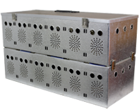 Panier de transport en aluminium 12 cases