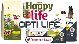 Aliments chiens Happy Life Optilife Versele-Laga