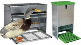 Mangeoires volailles d'extérieur anti-gaspi