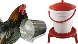 Abreuvoirs volailles, distributeurs d'eau pour poules