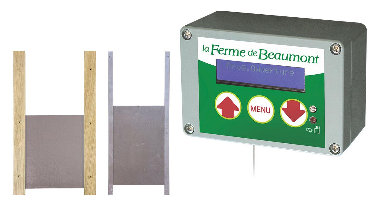portiers automatiques de poulailler la ferme de beaumont. Black Bedroom Furniture Sets. Home Design Ideas