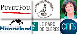 Puy du fou, Marineland, Parc de Cl�res, Anny Duperey