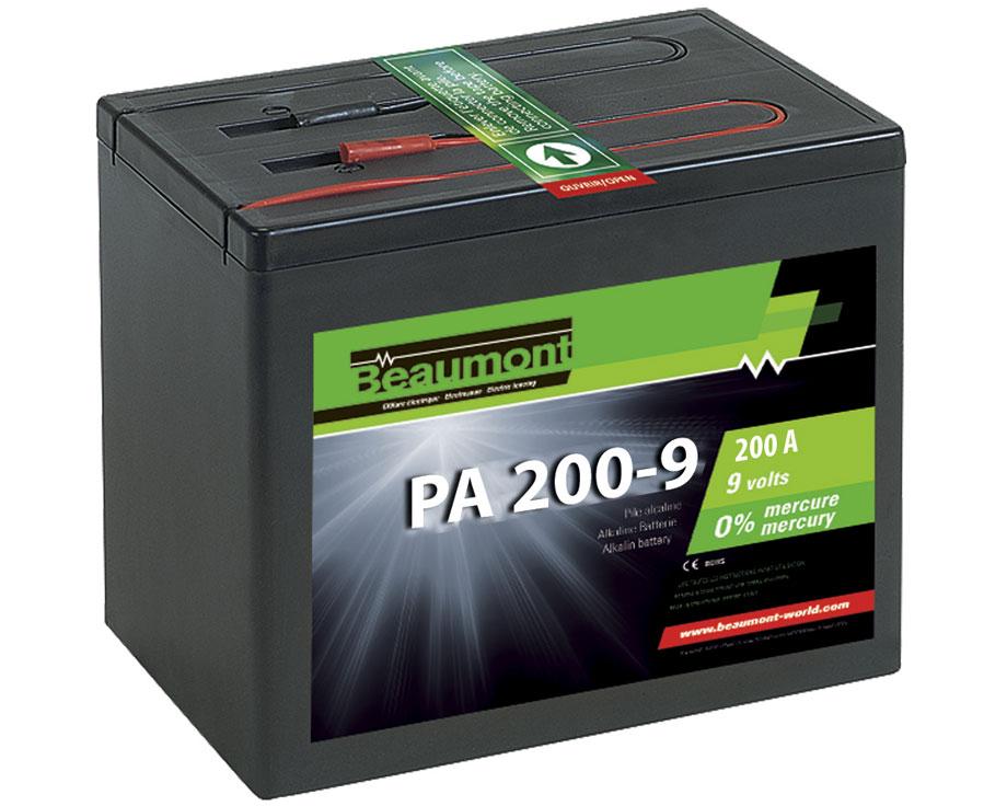 Pile alcaline Beaumont 9V 200A