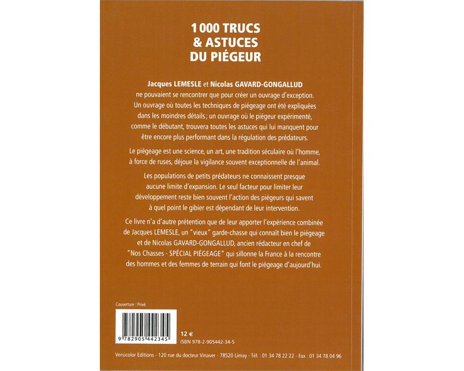 Livre 1000 trucs et astuces du piègeur