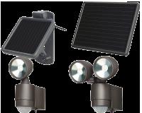 Spots à LED solaires à détecteur de mouvement