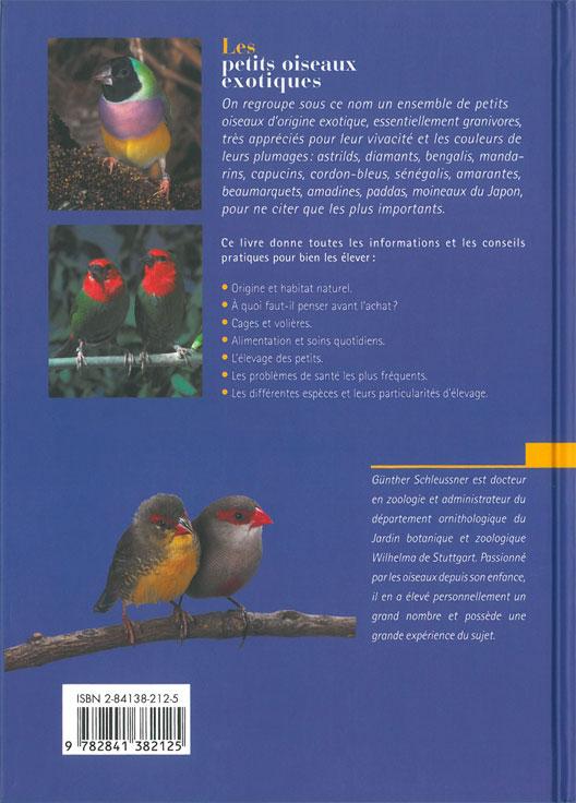 Livre Les petits oiseaux exotiques