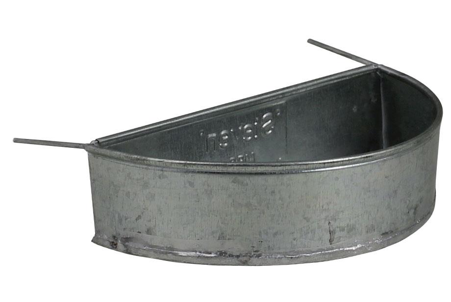 Mangeoire métal demi-lune 300 ml