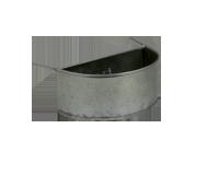 Mangeoire métal demi-lune 500 ml