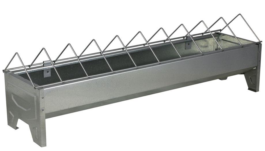 mangeoire poule auge volailles lin aire m tal 50 cm la ferme. Black Bedroom Furniture Sets. Home Design Ideas