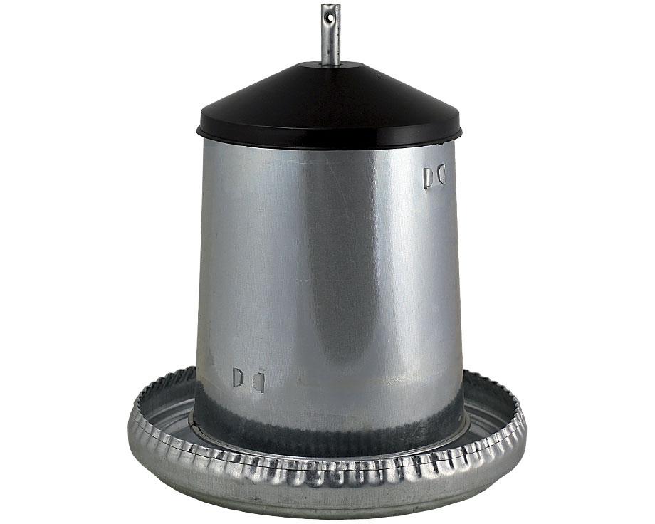 Mangeoire volailles à trémie métal 5 kg