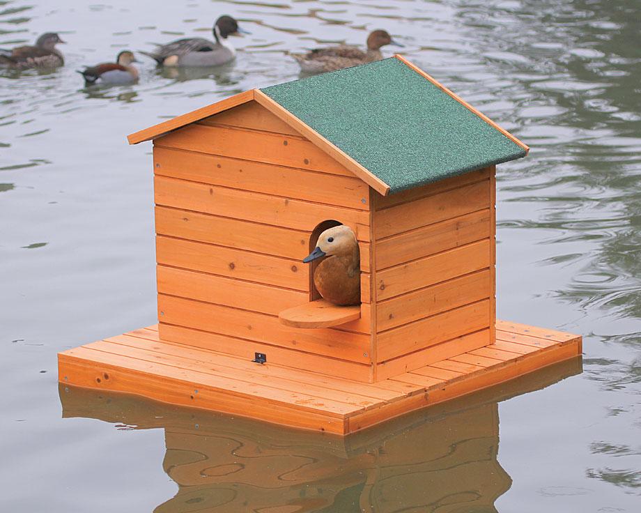 Ilot flottant en bois