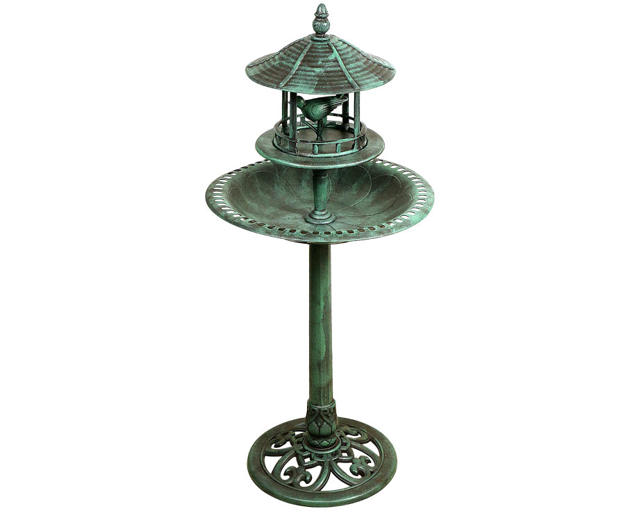 charming fontaine pour oiseaux jardin 4 kiosque