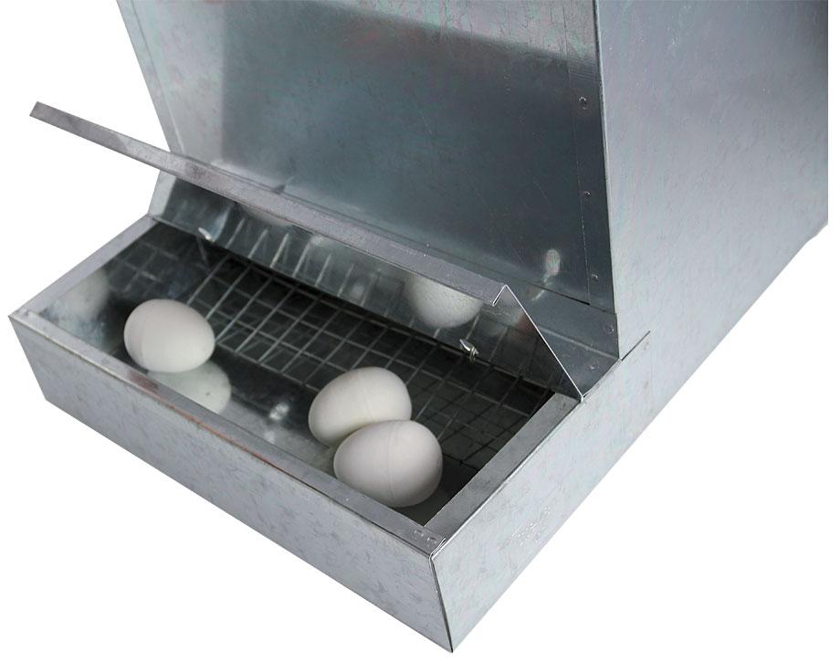 Nid pondoir poules poulailler en m tal la ferme de beaumont for Oeuf en plastique pour poule