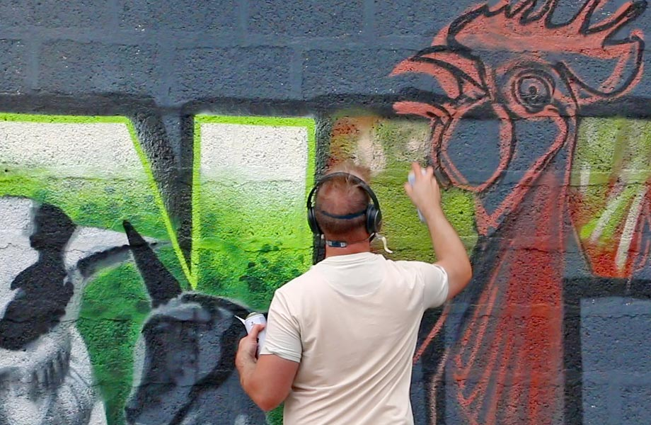 Fresque animalière par Made in Graffiti
