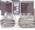 Raccords acier pour ruban 20 mm