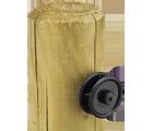 Isolateur roulette plastique noir