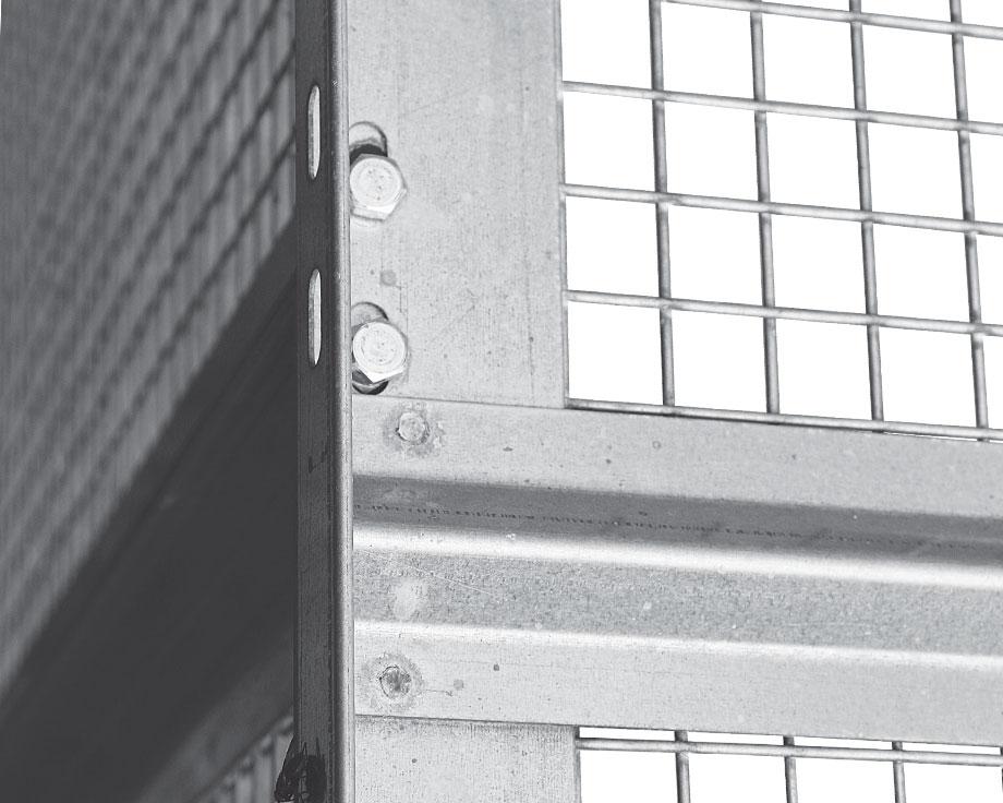 Panneau 95 x 95 cm grillagé avec porte